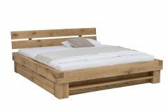 Timber von WOODLIVE - Holzbett Wildeiche mit Bettkästen