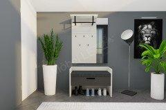 LimU von Wittenbreder - Garderobe Glas anthrazit matt