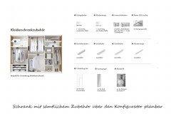 Zano von Thielemeyer - Kleiderschrank 6-türig, ca. 300 cm breit