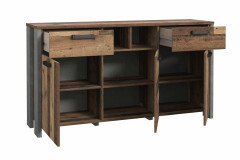 Clif von Forte - Kommode Beton grau - Old Wood Vintage