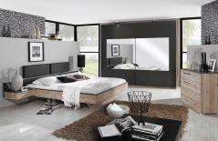 schlafzimmer vadora matt schwarz sanremo eiche von rauch. Black Bedroom Furniture Sets. Home Design Ideas